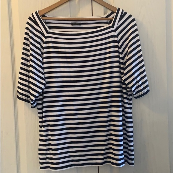 Striped Talbots box style T-shirt in euc